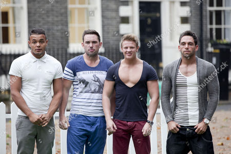 Stock Photo of The cast of The Valleys - Leeroy Reed, Liam Powell, Aron Williams and Darren Chidgey