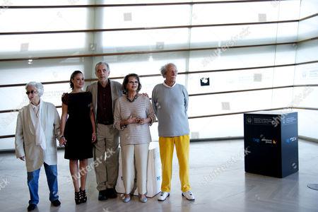 Spanish Actress Chus Lampreave, Spanish Actress Aida Folch, Director Fernando Trueba, Italian Actress Claudia Cardinale and French Actor Jean Rochefort