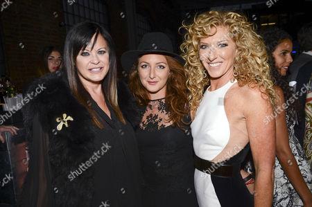 Ronnie Sassoon, Natasha Corrett and Kelly Hoppen