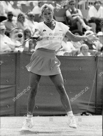 Tennis Player Chris Evert Chris Lloyd Mrs John Lloyd In Action At Eastbourne Christine Marie 'chris' Evert (born December 21 1954) Is A Former World No. 1 Professional Tennis Player From The United States. She Won 18 Grand Slam Singles Championships Including A Record Seven Championships At The French Open And A Record Six Championships At The U.s. Open. She Was The Year-ending World No. 1 Singles Player In 1974 1975 1976 1977 1978 1980 And 1981. Evert's Career Winning Percentage In Singles Matches Of 90.05% (1309a145) Is The Best In The History Of Professional Tennis Man Or Woman. On Clay Courts Her Career Winning Percentage In Singles Matches Of 94.05% (316a20) Remains A Wta Record. In Tennis Writer Steve Flink's Book The Greatest Tennis Matches Of The Twentieth Century He Named Evert As The Third Best Female Player Of The 20th Century After Steffi Graf And Martina Navratilova. Evert Reached 34 Grand Slam Singles Finals More Than Any Player Man Or Woman In The History Of Professional Tennis. She Reached The Semifinals Or Better In Singles Of 52 Of The 56 Grand Slams She Played Including The Semifinals Or Better Of 34 Consecutive Grand Slams Played From The 1971 U.s. Open Through The 1983 French Open. Evert Never Lost In The First Or Second Round Of A Grand Slam Singles Tournament. She Won 157 Singles Championships. In Women's Doubles Evert Won Three Grand Slam Titles And 29 Regular Tour Championships. Late In Her Playing Career She Was Known By Her First Married Name Chris Evert-lloyd. In Her Current Broadcasting Career With Espn She Is Typically Referred To As Chrissie Evert.