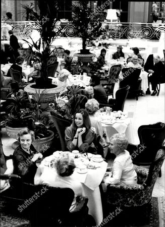 Editorial picture of Actress Lalla Ward At The Waldorf Hotel During A Tea Dance Held By The Theatrical Ladies Guild Of Charity.