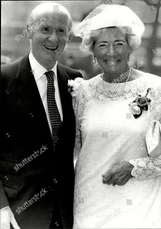 Anthony Barber Mp Lord Barber Of Wentbridge With His New Bride Rosemary Surgenor After Having The Registry Office Marriage Blessed In The Crypt Chapel Of The Palace Of Westminster. His First Wife Jean Asquith Died In 1983.