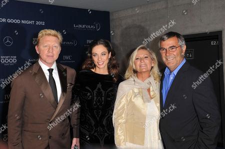 Boris Becker, Sharlely Lilly Kerssenberg, Sabine Christiansen and Norbert Medus