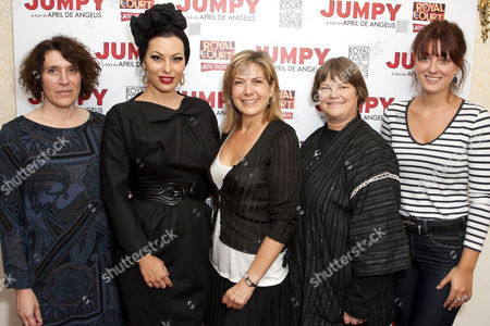 April De Angelis, Immodesty Blaize, Penny Smith, Rebecca Johnson and Olivia Grant