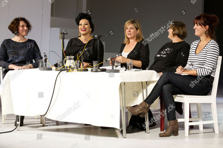 Stock Photo of April De Angelis, Immodesty Blaize, Penny Smith, Rebecca Johnson and Olivia Grant