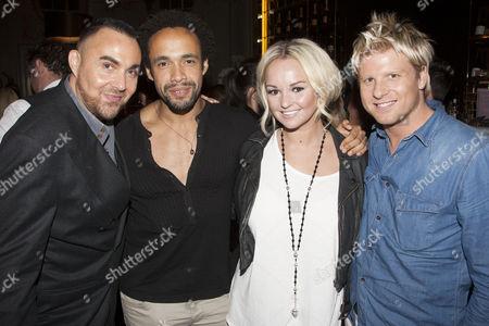 Jonathan D Ellis, Leon Lopez, Jennifer Ellison (Paulette) and Andrew Derbyshire