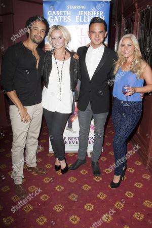 Leon Lopez, Jennifer Ellison (Paulette), Gareth Gates (Warner) and Heidi Range