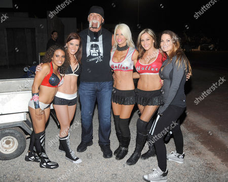 Stock Image of Thea Trinidad, Ashley Nichole Lomberger, Hulk Hogan, Angelina Love, Velvet Sky and Amy Christine Dumas