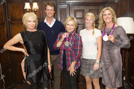 Judy Cramer, William Fox-Pitt, Jennifer Saunders, Laura Bechtolsheimer and Tina Cook