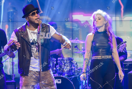 Stock Photo of Flo Rida and Stayc Reign