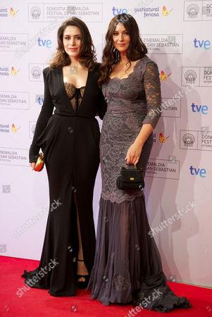 Belcim Bilgin and Monica Bellucci