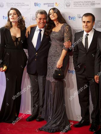 Bahman Ghobadi, Belcim Bilgin and Monica Bellucci