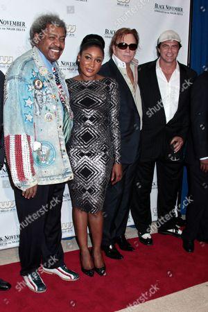 Don King, Mbong Amata, Mickey Rourke and John Enos
