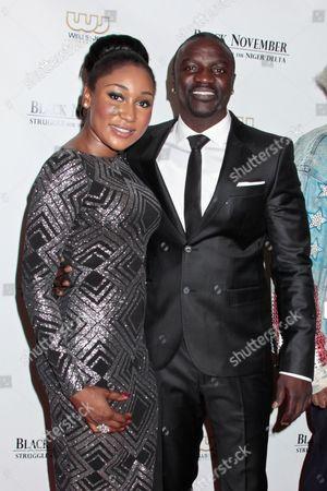 Stock Photo of Mbong Amata and Akon
