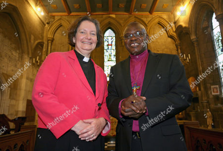 The Dean of York, The Very Reverend Vivienne Faull with The Archbishop of York, Dr John Sentamu.