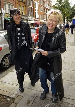Editorial image of Corinne Drewery and Hazel O'Connor out and about in London, Britain - 26 Sep 2012