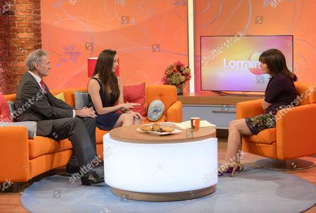 Dr Hilary Jones and Aaliyah Johnson with Lorraine Kelly