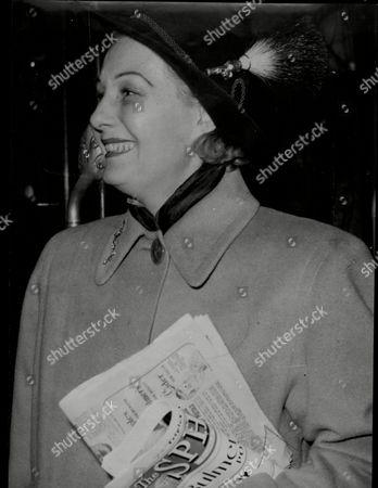 Actress Binnie Barnes Arrives Into London.