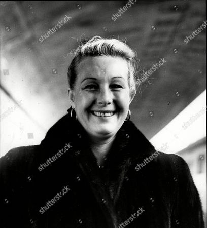 Stock Picture of Actress Binnie Barnes Arrives At Southampton From New York On The Liner The Queen Mary.