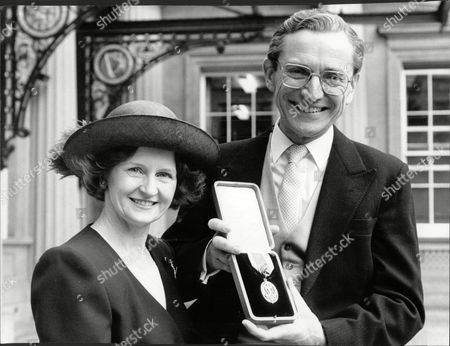 Sir Norman Fowler Baron Fowler Of Sutton Coldfield With His Wife Fiona At Buckingham Palace After He Was Knighted.