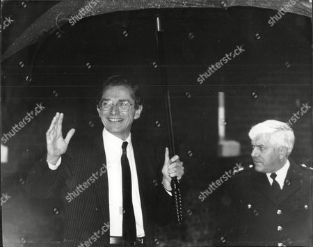 Editorial photo of Sir Norman Fowler Mp At No 10 Downing Street Baron Fowler Of Sutton Coldfield.