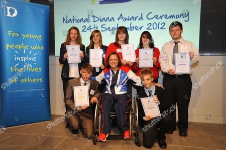 Paralympics Sitting Volleyball star Martine Wright with award winners