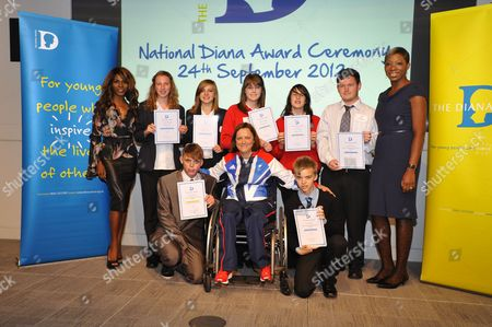 Award winners with Paralympics Sitting Volleyball star Martine Wright and Sinitta