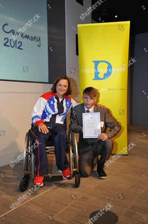 Paralympics Sitting Volleyball star Martine Wright and Connor Rowtree