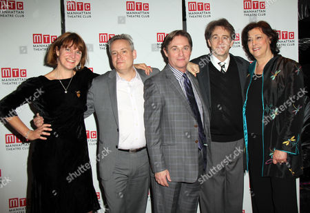 Playwright Rebecca Lenkiewicz, Director Doug Hughes, Richard Thomas, Boyd Gaines, Lynne Meadow