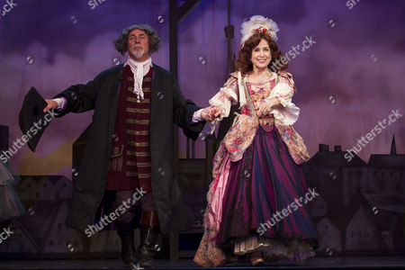 'A Chorus of Disapproval' - Barrie Rutter (Jarvis Huntley-Pike) and Susan Tracy (Rebecca Huntley-Pike) during the curtain call