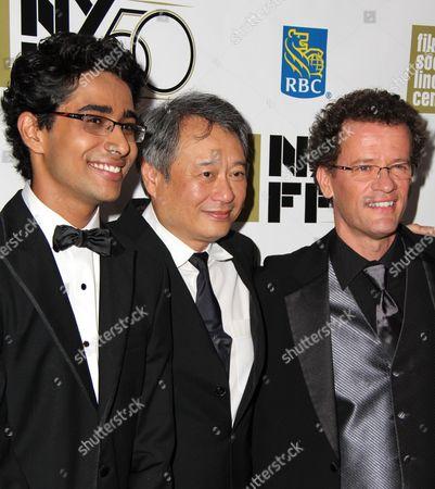 Suraj Sharma, Ang Lee and Yann Martel