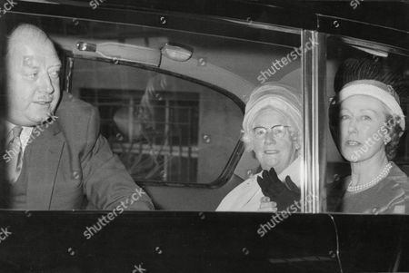 Lord Beeching Leaves Hospital In Westminster.