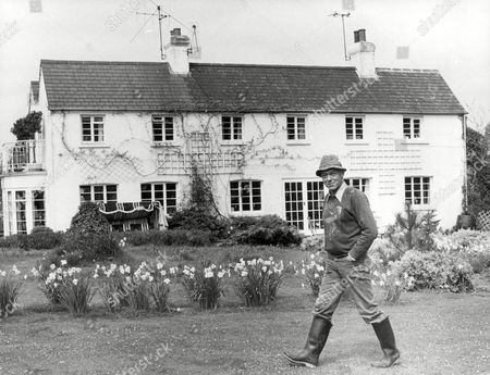 Actor Michael Bryant (dead April 2002) At Home In His Garden.