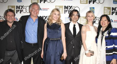 NYFF Program Director Richard Pena, IFC Films President Jonathan Sehring, Greta Gerwig, Director Noah Baumbach, Mickey Sumner, FSLC Executive Director Rose Kuo