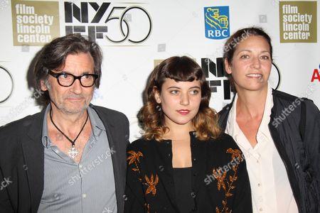 Griffin Dunne, Hannah Dunne and Anna Bingemann
