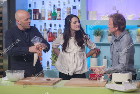 Stock Image of Simon Rimmer, Katie McGrath and Tim Lovejoy