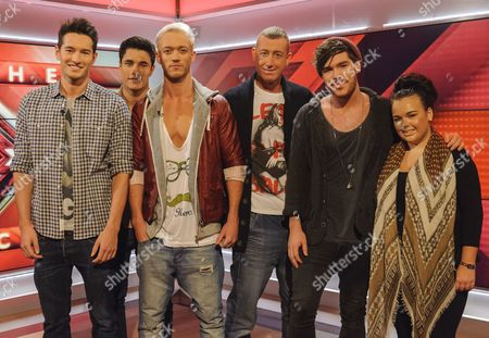 X Factor Wild Cards : Times Red, Christopher Maloney, Adam Burridge and Amy Mottram