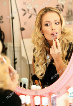 Editorial photo of Emily Maynard of 'The Bachelorette' receives a makeover at Benefit Cosmetics, New York, America - Oct 2012