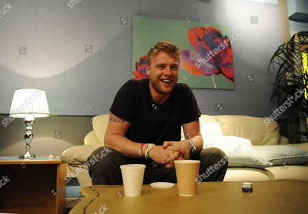 Ex Cricketer Andrew Freddie Flintoff Feature. Pics Show Him On The Set Of A League Of Their Own Elstree. Martin Samuel Feature.