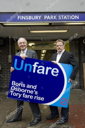 Comedian Eddie Izzard Joins Ken Livingstone Val Shawcross (lab. Gla Member For Transport) And Jeremy Corbyn Mp To Protest Against Rail Fares Increases. Picture By Glenn Copus.
