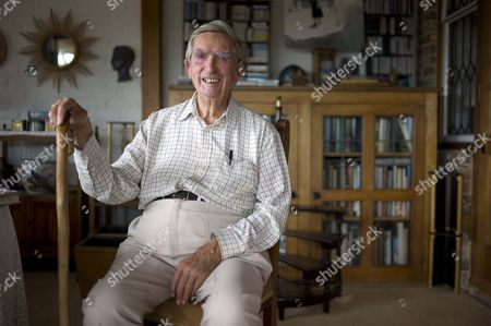 Stock Image of Lord Denis Healey At His Home In East Sussex .... Rosamund Urwin Interview For City.
