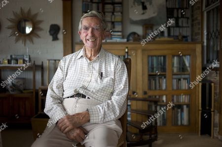 Stock Picture of Lord Denis Healey At His Home In East Sussex . Rosamund Urwin Interview For City.