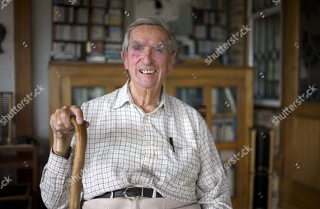 Lord Denis Healey At His Home In East Sussex.