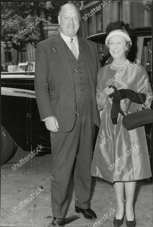 Stock Photo of Lord (richard) And Lady Beeching He Is Chairman Of British Rail In Smith Square.