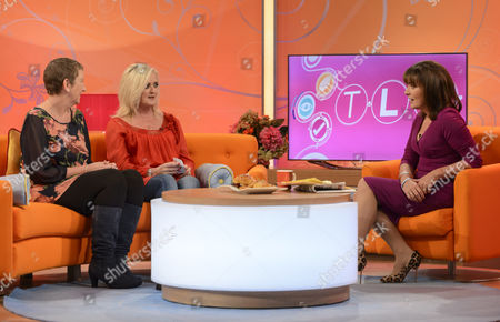 Christine Stanyon and Bernie Nolan with Lorraine Kelly