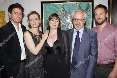 Stock Photo of Dominic Rowan (Anthiochus), Anne-Marie Duff (Berenice), Josie Rourke (Director), Alan Hollinghurst (Adaptation) and Stephen Campbell Moore (Titus)