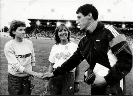 Zola Budd Runner With Christine Boxer (runner) And Alan Wells 1984.