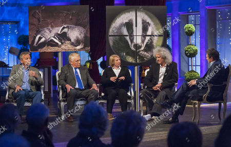 Stock Image of Clive Aslet, Ben Pullen, Fiona Harvey and Brian May with Alan Titchmarsh