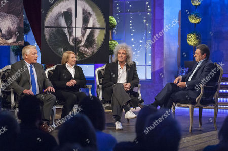 Ben Pullen, Fiona Harvey and Brian May with Alan Titchmarsh