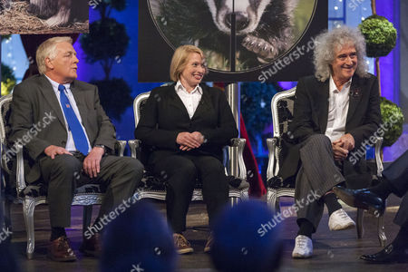 Stock Picture of Ben Pullen, Fiona Harvey and Brian May